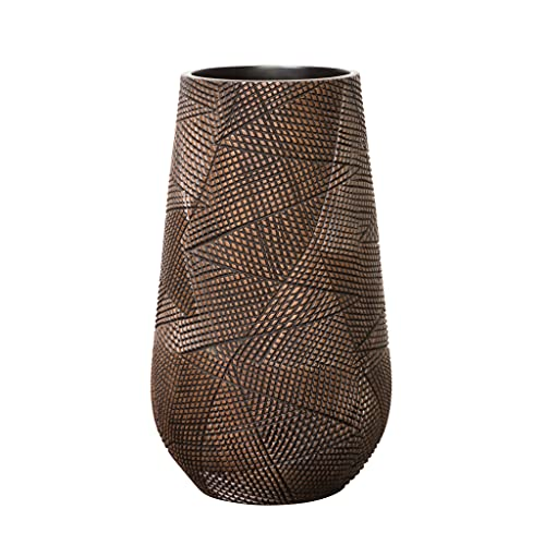 Torre & Tagus Diamond Hatch Carved Resin Floor Vase (20)