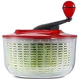 Large 5L Salad Spinner, Lettuce Spinner Quick Dryer Easy to Clean, Dishwasher Safe Salad Washer Dryer Ideal for Vegetables and Fruits, BPA Free, Large 4.5 Quart