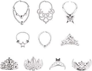 carocheri Accessories for Barbie Doll Dress Up Jewelry for 11.5 Inch Doll 5pcs Crowns + 5pcs Necklaces