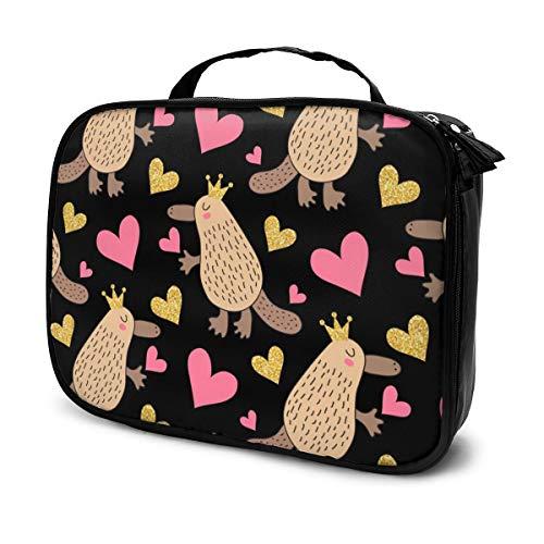 Sacs à cosmétiques pour les femmes, étui à crayons Cute Platypus Queen