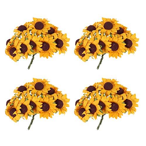 100pcs Artificial Flower Sunflower Bouquet for Home Wedding Decoration