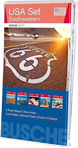 Preisvergleich Produktbild USA Set Southwestern: 5 Karten im Set: Arizona,  California,  Nevada,  Utah,  Übersichtskarte USA West; Busche Map Straßenkarten (Busche Map Straßenkarten / USA,  Canada