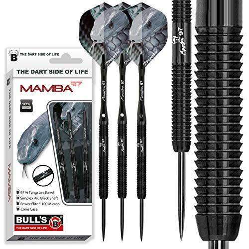 BULL'S Mamba 97 M1 Steel Dart 25g, Schwarz