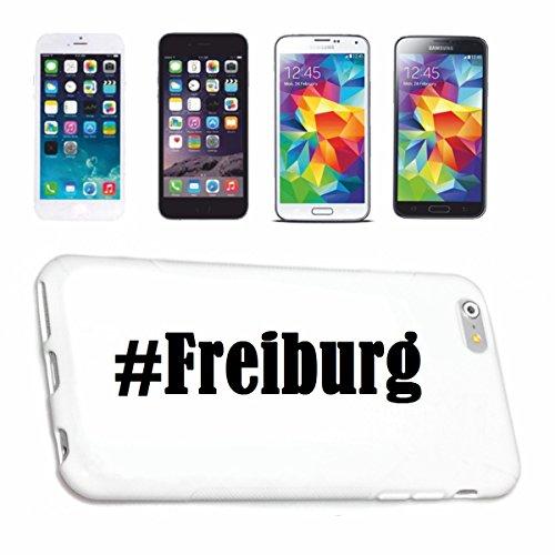 Reifen-Markt Handyhülle kompatibel für iPhone 6 Hashtag #Freiburg im Social Network Design Hardcase Schutzhülle Handy Cover Smart Cover