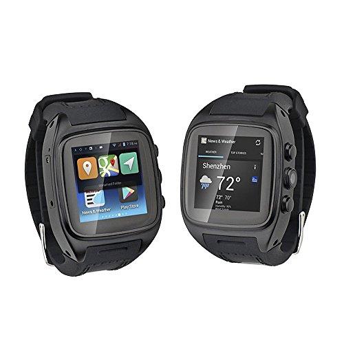 PKA Z004 3G Smartwatch, Android 4.4, MTK6572 Dual Core 4,6 cm (1,6 Zoll), TFT 512 MB RAM, 4 GB ROM, 3,0 MP Kamera CN –