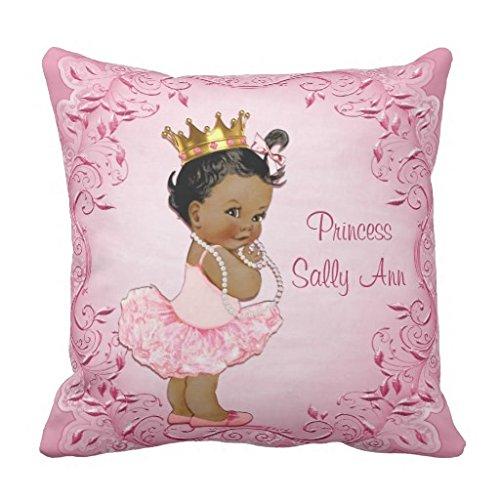 Personalisierte Ethnic Prinzessin Ballerina Pink Überwurf Kissen