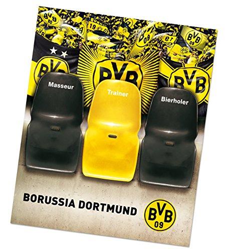 Borussia Dortmund Sofaüberzug/Tagesdecke/Couchschoner/Decke - Trainerbank BVB 09 - Plus gratis Aufkleber Forever Dortmund