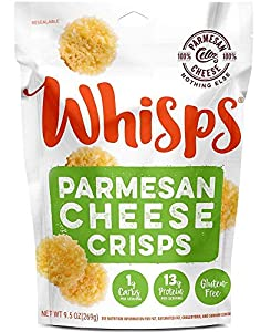 Whisps Parmesan Cheese Crisps | Keto Snack, Gluten Free, Sugar Free, Low Carb, High Protein | 9.5 ounce