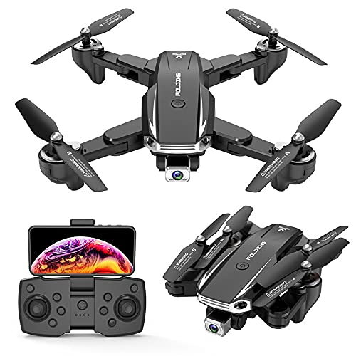 NONGLAN 6k HD Pixel Drone HD Camera WiFi FPV Hight Hold Mode One Key Return Pieghevole Braccio Quadcopter Rc Dron per Bambini Regalo(Color:Nero)