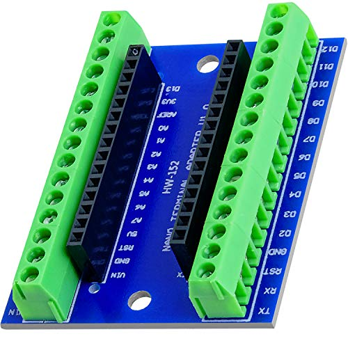 AZDelivery Nano V3.0 Placa Adaptador de Terminal con Terminales de Tornillo, Terminal Adapter Board, Module Board compatible...