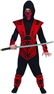 Red Skull Lord Ninja Costume Boys Large 12-14