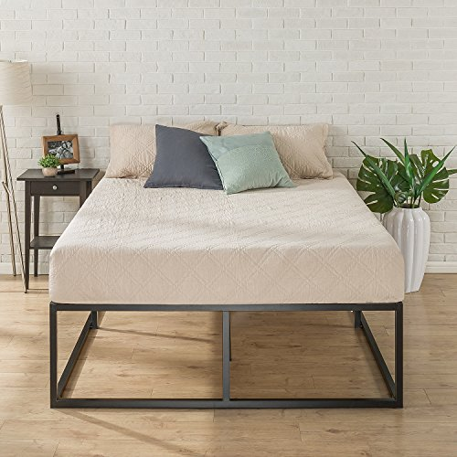 Zinus Joseph Modern Studio 18 Inch Platforma Bed Frame / Mattress Foundation / Boxspring Optional / Wood slat support, Queen