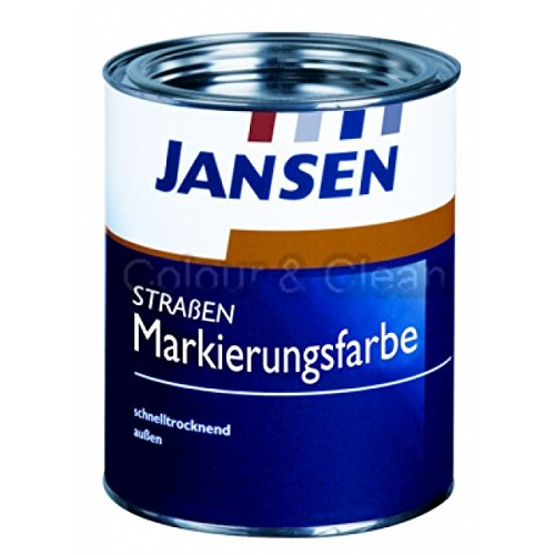 JANSEN Straßenmarkierungsfarbe 750ml Fb. rot