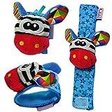 Gazechimp Kinder Armband Spielzeug Plüschtiere Armband Handgelenk Rassel für Kinder Lernspielzeug - Giraffe