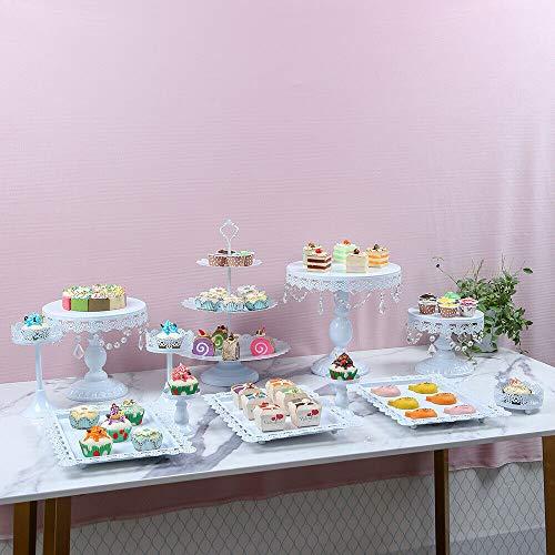 12 bandejas de cristal para tartas, ideales para bodas y cumpleaños