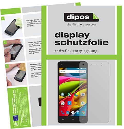 dipos I 2X Schutzfolie matt kompatibel mit Archos 50b Cobalt Lite Folie Bildschirmschutzfolie