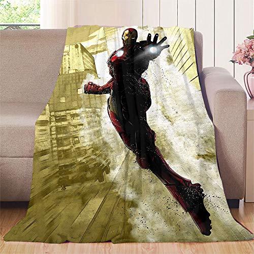 XavieraDoherty The Avengers, Iron Man Bettdecke, 80 x 130 cm, extra gemütlich, maschinenwaschbar, bequeme Heimdekoration
