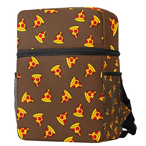 LORVIES Kids Backpack Cute Pizza Slice with Tomatoes and Salami Pattern Lightweight Preschool...