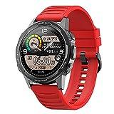 ZGZYL 360 * 360 HD Pantalla Grande X28 Smart Watch Hombres con Monitoreo De Ritmo Cardíaco De Oxígeno De Sangre IP68 A Prueba De Agua Deportes Fitness Actividad Tracker Smart Watch iOS Android,D
