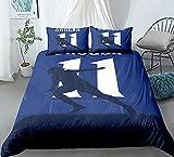 Juego de funda de edredón para cama individual, diseño de patrón de arte exquisito, ultra suave, antialérgico, no necesita planchado, ropa de cama de microfibra de lujo, 135 x 200 cm