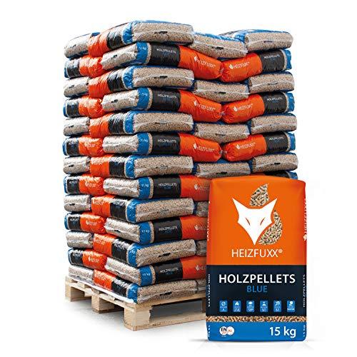PALIGO Holzpellets Blue Heizpellets Nadelholz Wood Pellet Öko Energie Heizung Kessel Sackware 6mm 15kg x 65 Sack 975kg / 1 Palette Heizfuxx