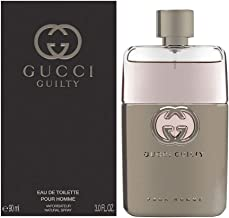 Gucci Guilty by Gucci for Men Eau de Toilette Spray, 3 Fl Oz (Pack of 1)