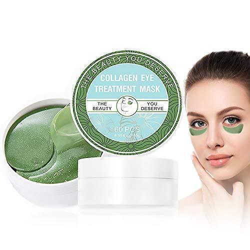 Oogmasker, oogpads, anicyder anti-aging pads, collageen behandeling algen-eye masker, verwijdert zakken donkere kringen puffiness, vocht, anti-rimpels, vermoeidheid verlichten oogmasker, 60 stuks/box