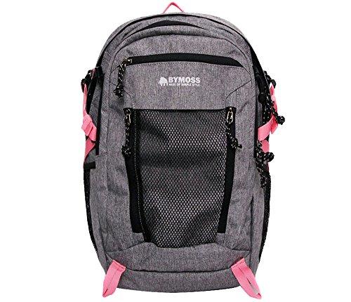 [バイモス]BYMOSS マキシマム エクストリーム1シリーズ(メッシュ)(Maximum Extreme Backpack 1Series) (グレーピンク) [並行輸入品]