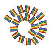 LMWZYK Bandera Gay Arco Iris LGBT Bandera Arcoiris Bandera Gay Bandera Colorida Las...