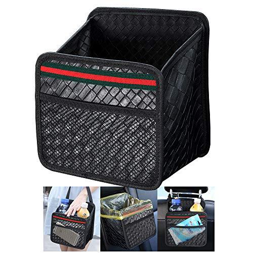 車用シートバックポケットレザー素材車用収納ポケット 後部座席収納 折り畳みテープル 付き 防水防汚 大容量 多機能