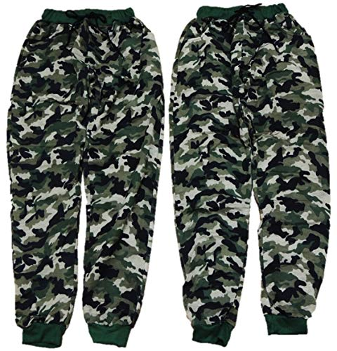 VanessasShop Joggingbroek voor jongens, camouflage in de maten 152-188