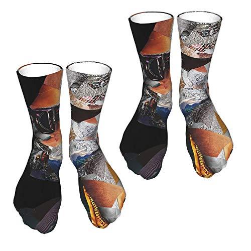 Kanye West - Calcetines deportivos para hombre y mujer con impresión 3D, divertidos y coloridos, 2 unidades