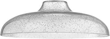 Clear Seeded Glass Shade 14-Inch Wide 1.63-Fitter
