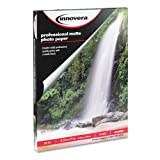 Innovera Heavyweight Photo Paper, Matte, 8-1/2 x 11 Inches, 50 Sheets/Pack (99650)