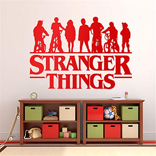 Stranger Things Fremde Dinge Wandtattoo Fremde Dinge Silhouetten Wandaufkleber Dekoration TV Serie Wandtattoo