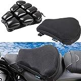 aufer - cuscino d'aria per sedile moto, 30,5 x 30,5 cm, per un comodo viaggio, in tessuto resistente per la maggior parte delle moto