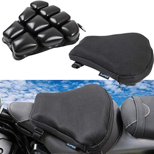 AUFER 30,5 x 30,5 cm Motorrad-Sitz-Luftpolster für bequemes Reisen Druckentlastung strapazierfähiger Stoff für die meisten Motorräder