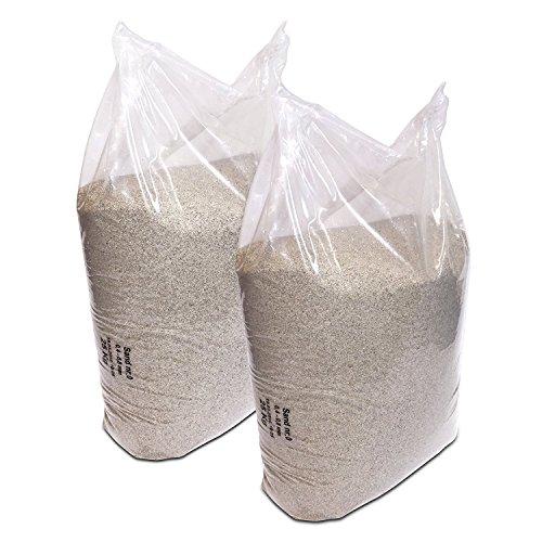2 x 25 kg de sable de quartz de 0,4 à 0,8 mm.