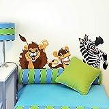 kina R00191 Pegatina de Pared para niños - Animales en el sofá 2 - Medidas 60x30 cm - Decoración de Pared, Pegatinas de Pared, Papel Pintado