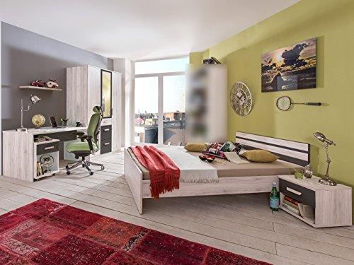 Jugendzimmer Cariba Komplett Verschiedene Ausführungen Kinderzimmer Möbel (Jugendzimmer Cariba 5 teilig, Weißeiche)