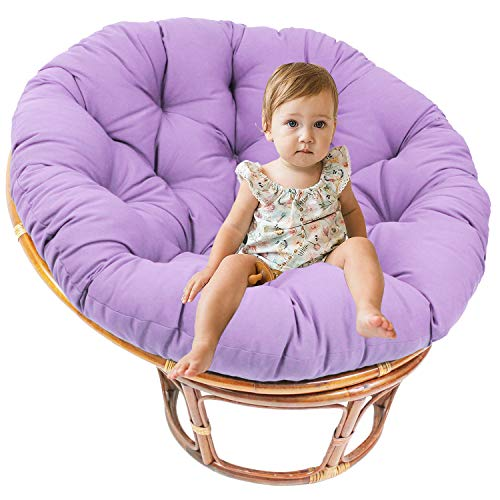 LEKÄRO Papasan Overstuffed Chair Cushion Seat Pads, Hanging Swing Chair Pad Seat Cushions Hammock Chair Cushion Mats Indoor Outdoor (Purple)