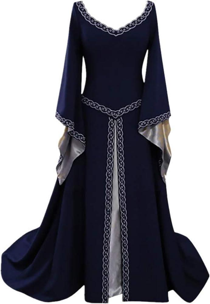 Bombing new work Renaissance specialty shop Costume Women Medieval Dress Up Vintage L Lace Floor