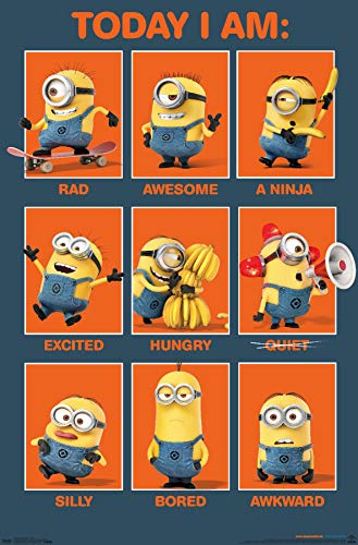 Trends International Illumination Despicable Me - Today I Am Wall Poster, 22.375' x 34', Premium Unframed Version