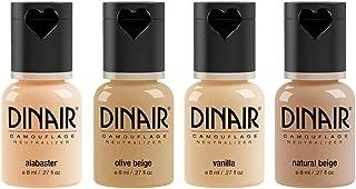 Dinair Airbrush Makeup Foundation   4pc Camouflage Neutralizer Set   Fair Shades   Covers Scars, Acne, Tattoos, Under Eye Circles, Sun Spots, Vitiligo