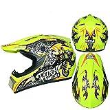 ZYW Anti-Shock Anti-Caduta Casco del Motociclo Prendi 3 Gifts Professionale Che Corre Casco Fuoristrada Casco Moto Outdoor Casco da Motociclista,Style 3,L