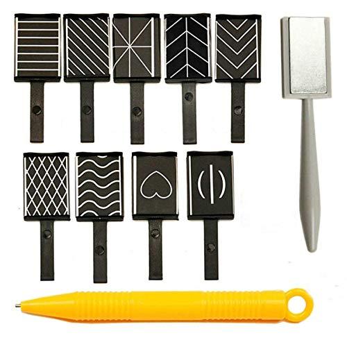 MKNZOME 11 Pièces Aimant Bâton Aimant Stylo Manucure Nail Art Outil pour Magie Magnétiques 3D Chat Oeil Effet Poudre gel Vernis à Ongles DIY