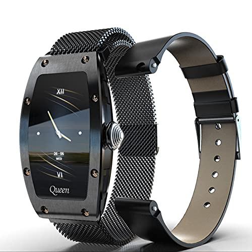 Rvlaugoaa Smartwatch para Mujer Lady Fashion Fitness Smartwatch Calorías Pulsera Deportiva 1.14 Pulgadas Reloj Inteligente a Prueba de Agua para Teléfonos iPhone/Android