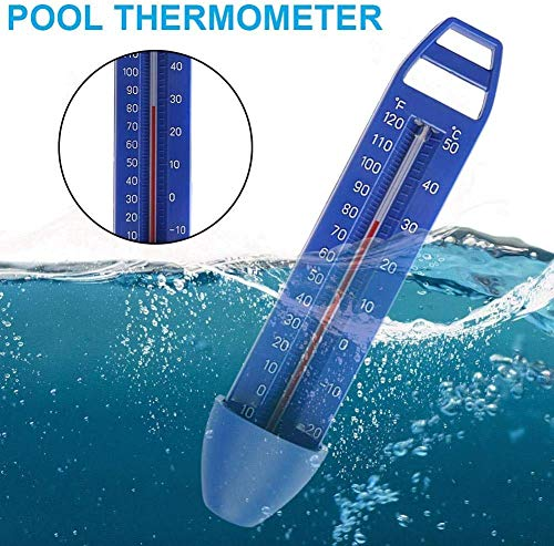 Salalook Thermometer Pool Schwimmend,Poolthermometer Schwimmring Schwimmbadthermometer Für Outdoor & Indoor Pools, Spas, Hot Tubs, Aquarien, Fischteiche 170x 39 X 30mm