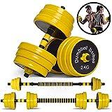 Juego de pesas ajustable YMWD para mujeres y hombres, mancuernas ajustables con peso libre, juego de pesas con tubo de unión de neopreno para entrenamiento de fuerza