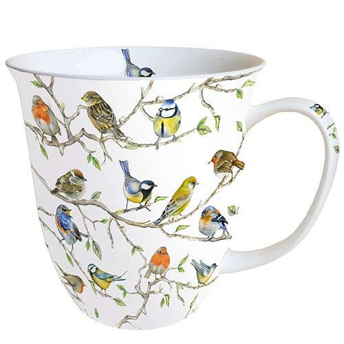 Ambiente Becher Mug Tasse Tee / Kaffee Becher ca. 0,4L Birds Meeting